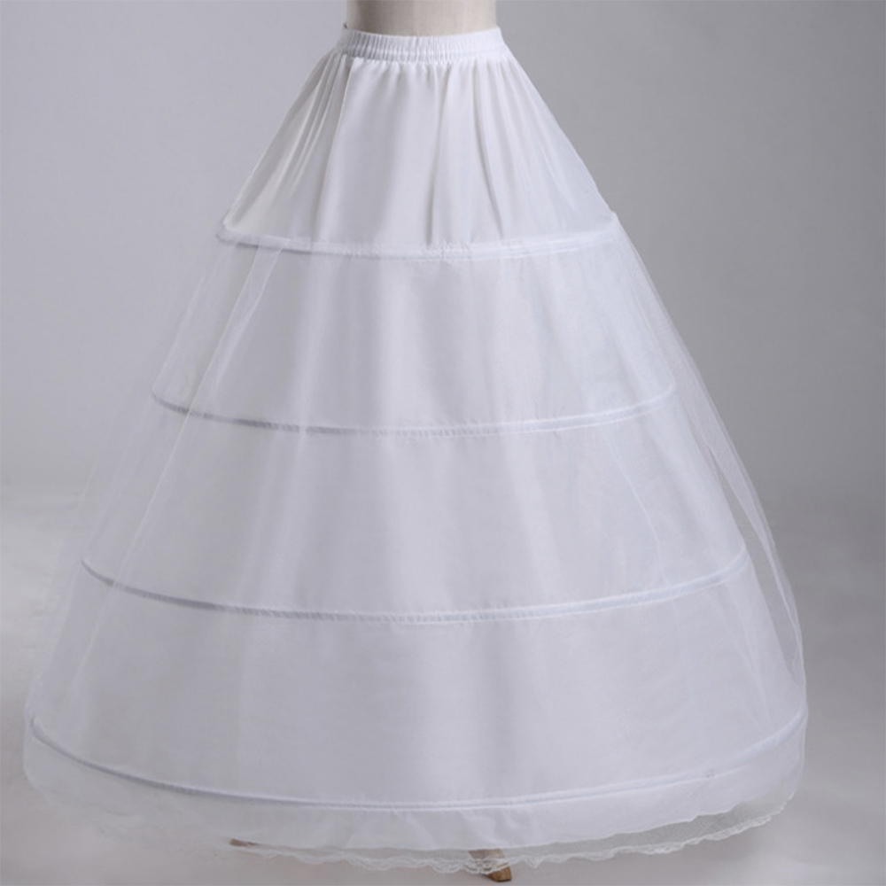 Wedding Petticoat 4 Crinoline Slip Underskirt Bridal Dress Hoop Vintage Slips