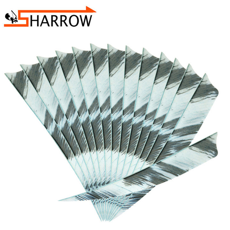"""5/"""" 50pcs Archery Arrow Turkey Shield Feather Right Wing Natural Fletches Hunting"""