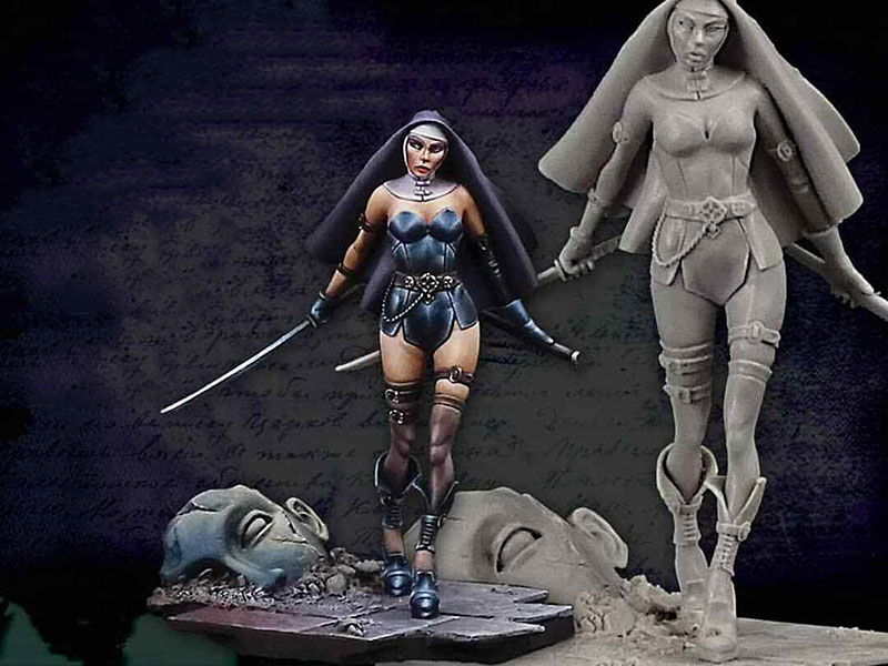 1/24 75MM  Ancient WOMAN Stand (WITH BASE ) 75MM   Resin Figure Model Kits Miniature Gk Unassembly Unpainted