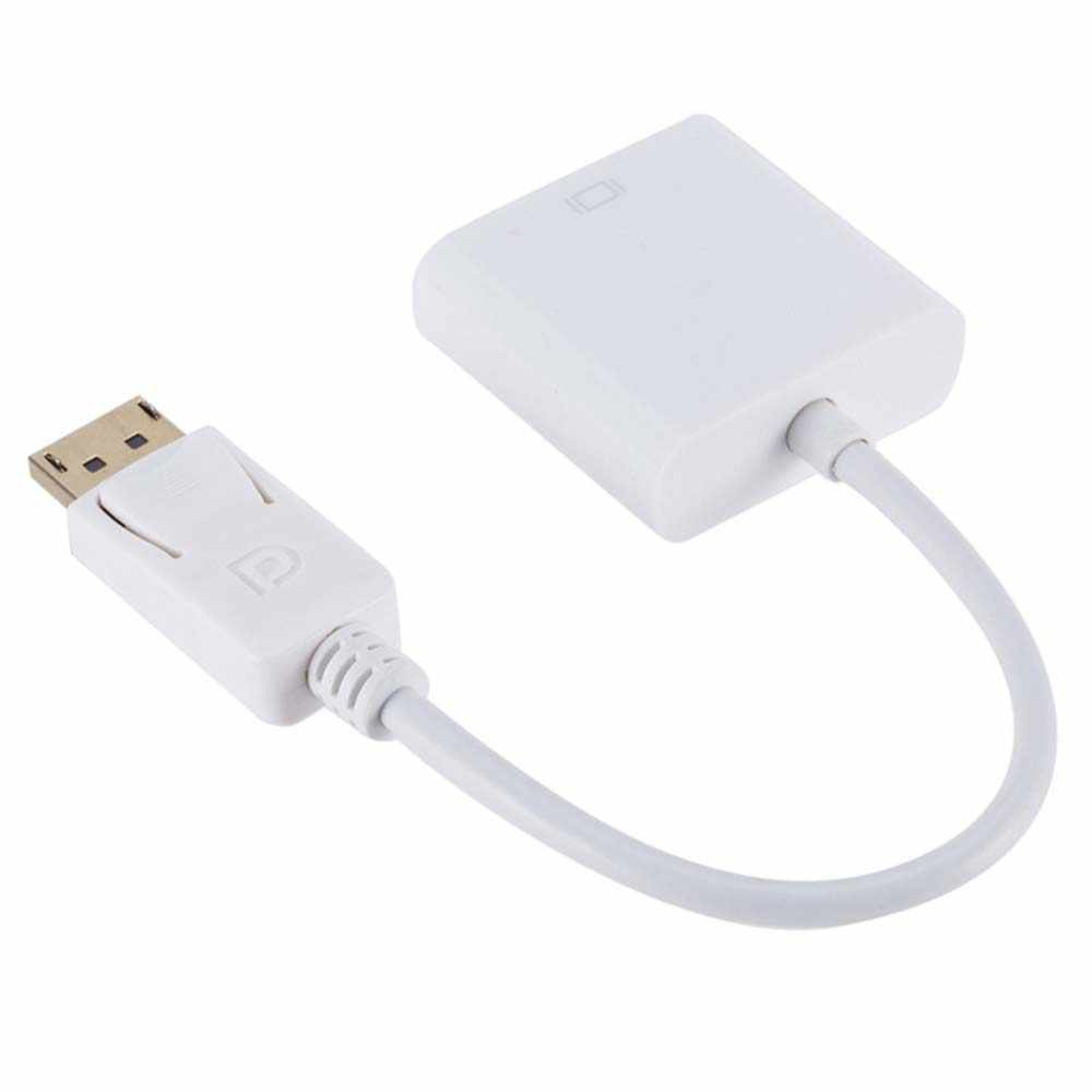 YuBeter DP to VGA Video Adapter 1080p Male Display Port to Female VGA Cables For MacBook Projector Laptop Monitor