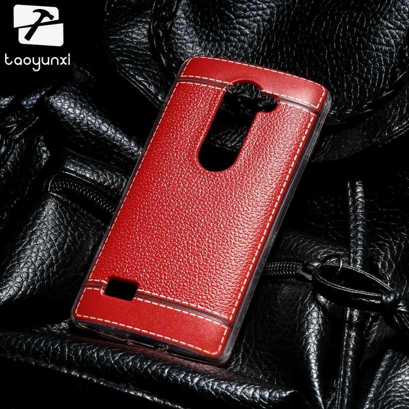 حافظة من الجلد الصناعي لهواتف LG LEON Tribute 2 4G LTE C40 H340N Y50 H320 C50 H324 H340 LS665 حافظة من السيليكون الناعم