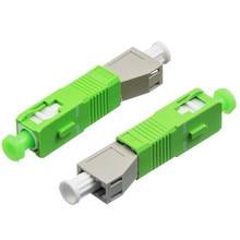 Adaptador de conector de fibra óptica SC/APC macho a LC hembra MM modo acoplador con brida