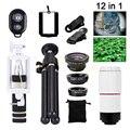 Teléfono Kit de Lentes 8X Zoom Telefoto Lente ojo de Pez de Gran Angular Macro lentes de microscopio para iphone samsung galaxy s3 s4 s5 s6 s7 borde
