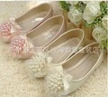 Free Shipping baby autumn shoes,wholesale 5pairs/lot 2013 new fashion cute pearl princess PU shoes,baby party shoes