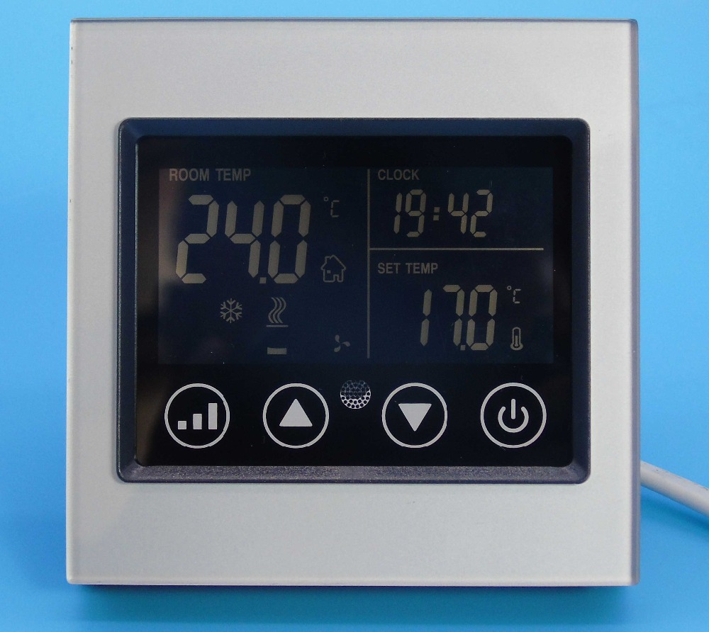 Smart Touch Screen Cool Heat Fan Thermostat Control With Acrylic Material