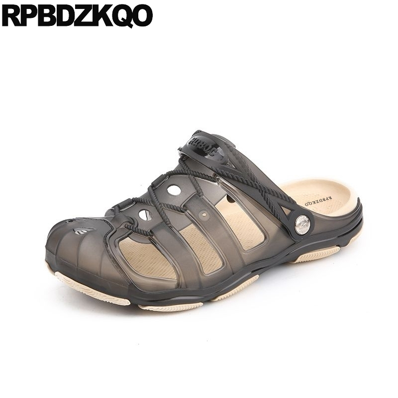 ccdadf8dd8b9e2 Black Designer Shoes Men High Quality Garden Summer Fashion Sport Native Rubber  Sandals Jelly Clogs Gardening ...
