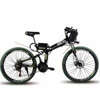 Polegada bicicleta dobrável de montanha elétrica 48 24 V bateria de lítio bicicleta elétrica 500 W motor AUXILIAR a gama 60 km max velocidade 40 km
