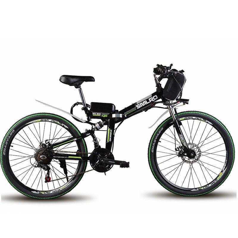 VTT électrique pliant de 24 pouces 48 V batterie au lithium vélo électrique 500 W gamme d'assistance moteur 60 km vitesse max 40 km