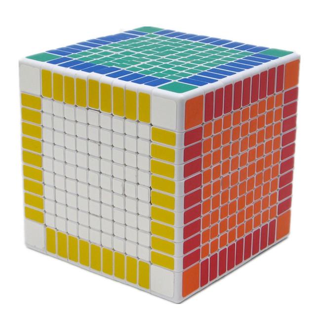 Blanco shengshou 11x11x11 puzzle cubo mágico 11 cm bloques cuadrados cubo de la velocidad 11x11 magico neo cubo juguetes educativos para adultos regalo