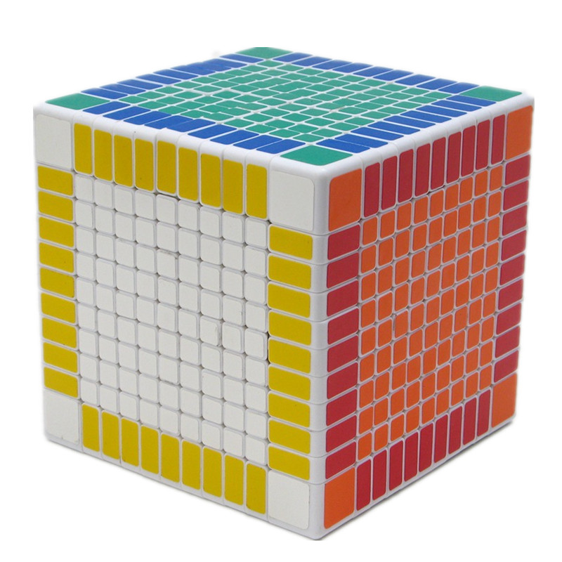 Shengshou White 11x11x11 Magic Puzzle Cube 11cm Square Speed Cube Blocks 11x11 Magico Neo Cubo Adult Educational Toys Gift magic cube iq puzzle star color assorted