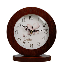 #a quiet Originality jow deskclock Simple circular Bedroom Desk Table Clock Living Room Decoration Candy gift white