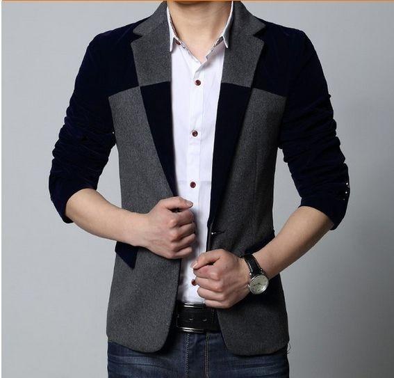Осень г. одежда высшего качества Блейзер повседневный мужской костюм куртка для мальчиков пальто мужской блэйзер с цветами chaqueta hombre Тренч для мужчин 102708