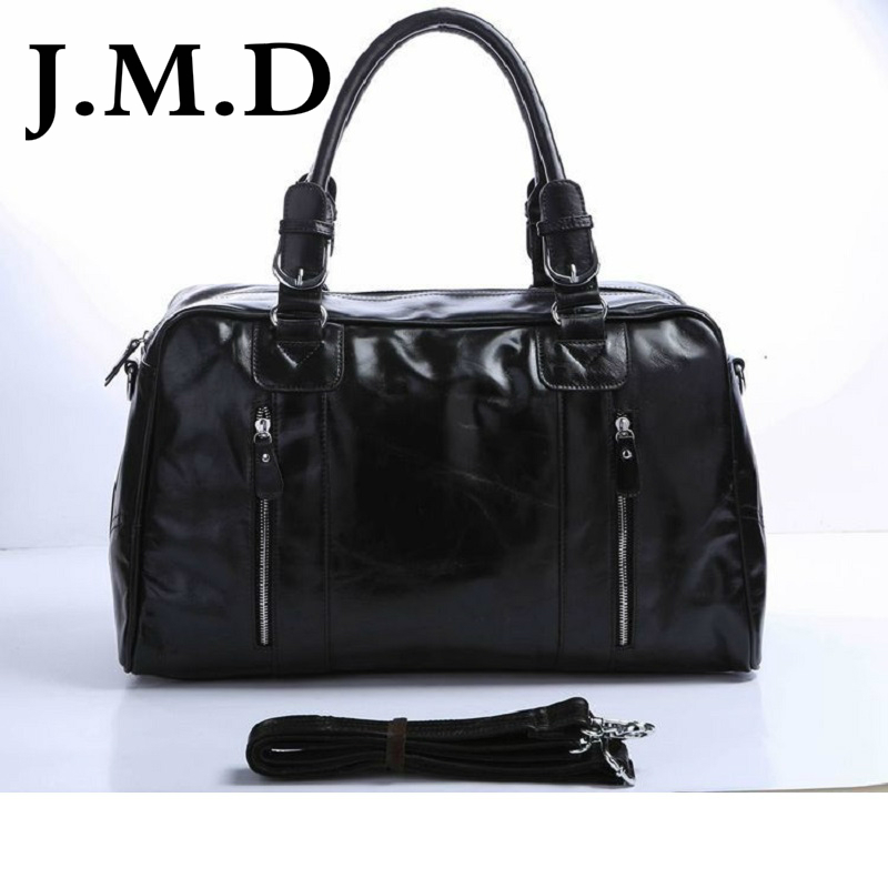 ee1772392bc8 J.M.D 100% Classic Leather Vintage Genuine Men s Classic Travel Bags  Luggage Handbag Cross Body Duffle Bag Huge 18