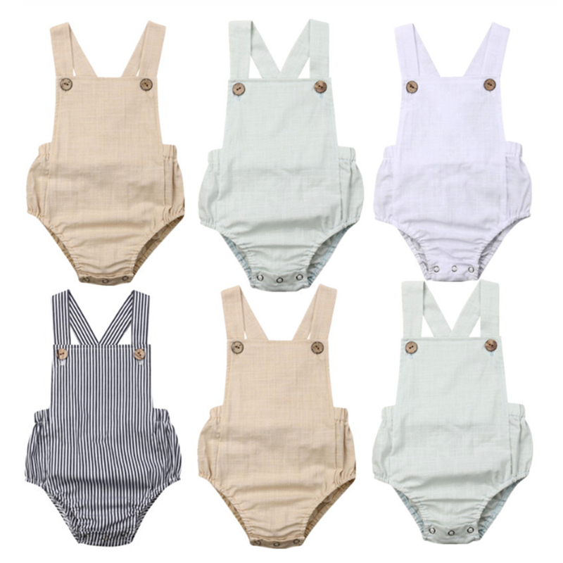 Baby Girl Boy Clothes 2019 Summer Baby Girls   Rompers   Cotton Infant Newborn Baby Girl Clothes Sleeveless Jumpsuit Unisex   Rompers