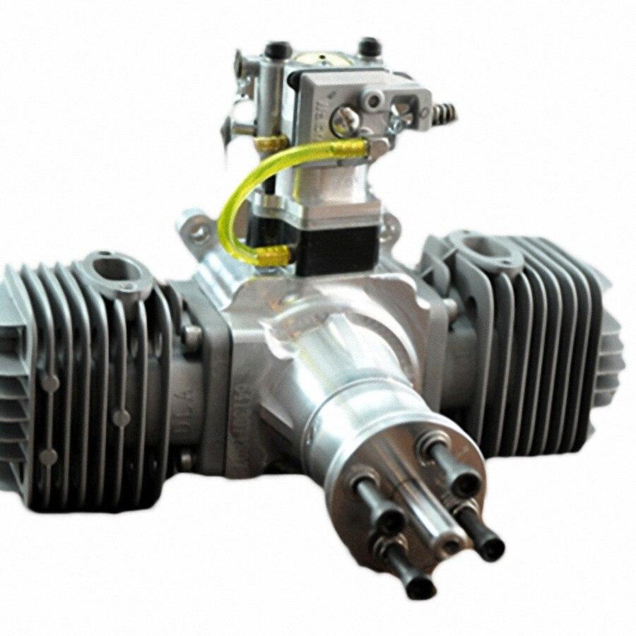 DLA64 64cc Gas <font><b>Engine</b></font> For <font><b>RC</b></font> Airplane W/Twin Igniton & Muffler Aviation Alumin