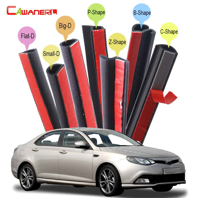 Cawanerl For MG 3 5 6 7 Car Hood Door Trunk Seal Sealing Strip Kit Weatherstrip Vehicle Rubber Seal Edge Trim Sound Insulation cawanerl car 4 door trunk hood rubber sealing strip kit seal edging trim weatherstrip for volvo 760 850 940 960 c30