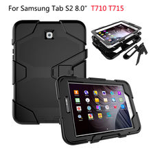 Armor Kickstand Case Funda For Samsung Galaxy Tab S2 8.0 T710 T715 SM-T719 Cover Shockproof Heavy Duty With Stand Hang Shell