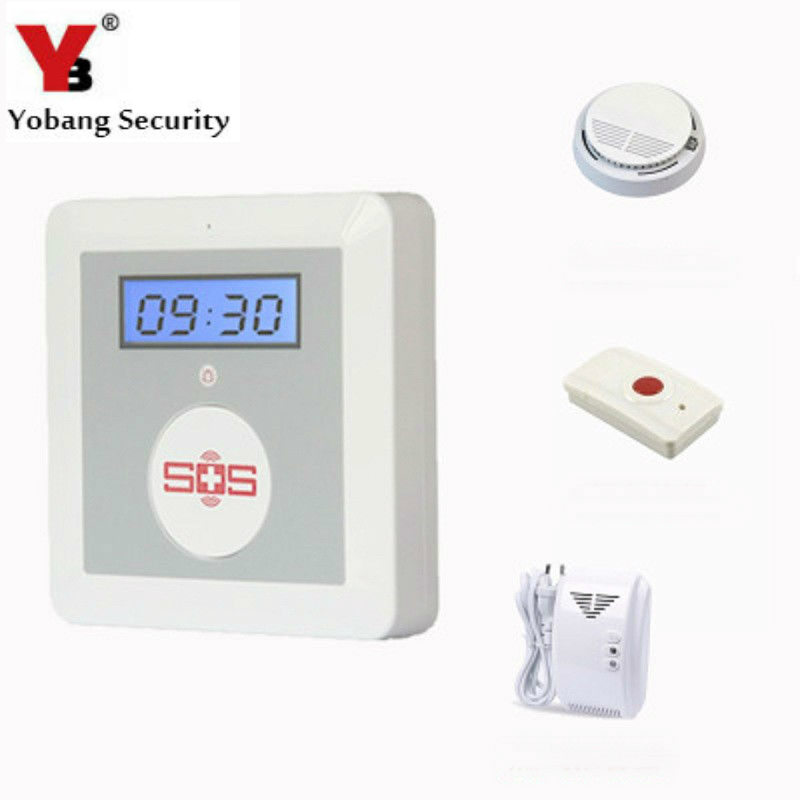 YobangSecurity GSM Senior Alarm Emergency Call Button for Elderly Android IOS APP Smoke Detector Gas Leak Sensor Panic Button wireless service call bell system popular in restaurant ce passed 433 92mhz full equipment watch pager 1 watch 7 call button