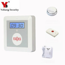 YobangSecurity GSM Senior Alarm Emergency Name Button for Aged Android IOS APP Smoke Detector Fuel Leak Sensor Panic Button