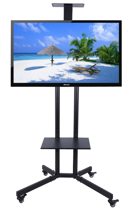 32 60 inch lcd led plasma tv mount floor display stand carts trolley with dvd holder and camera. Black Bedroom Furniture Sets. Home Design Ideas