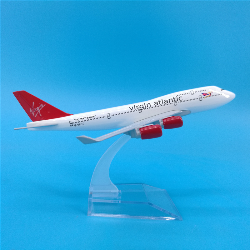 16cm Virgin Atlantic Airlines Airplane Model Boeing 747