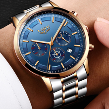 LIGE Watch Men Fashion Sport Quartz Clock Mens Watches Top Brand Luxury Full Steel Waterproof Gold Wrist Watch Relogio Masculino new lige watches men luxury brand fashion men s sports quartz watch man waterproof full steel gold wrist watch relogio masculino
