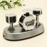 Mini Drum Set Finger Touch Drumming LED Light Musical Drums Percussion Musical Instruments Educational Music Toys
