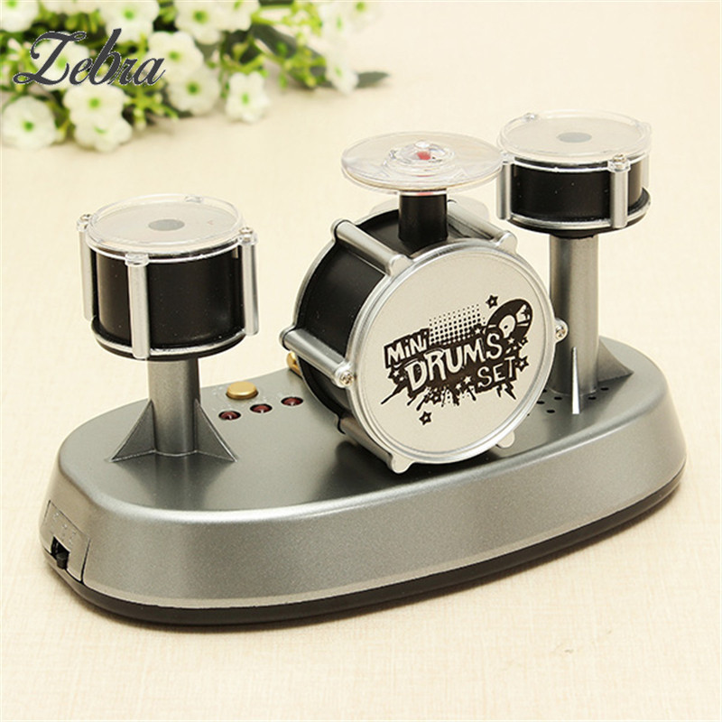 Mini Drum Set Finger Touch Drumming LED Light Musical Drums Percussion Musical Instruments Educational Music Toys Children Gift ...