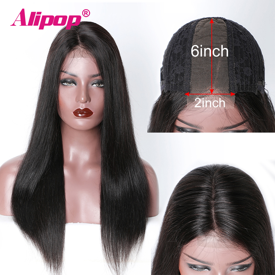 Brazilian Straight Human Hair Wigs Remy 2x6 Lace Front Wigs For Women Deep Part Lace Front Wigs With Baby Hair Alipop