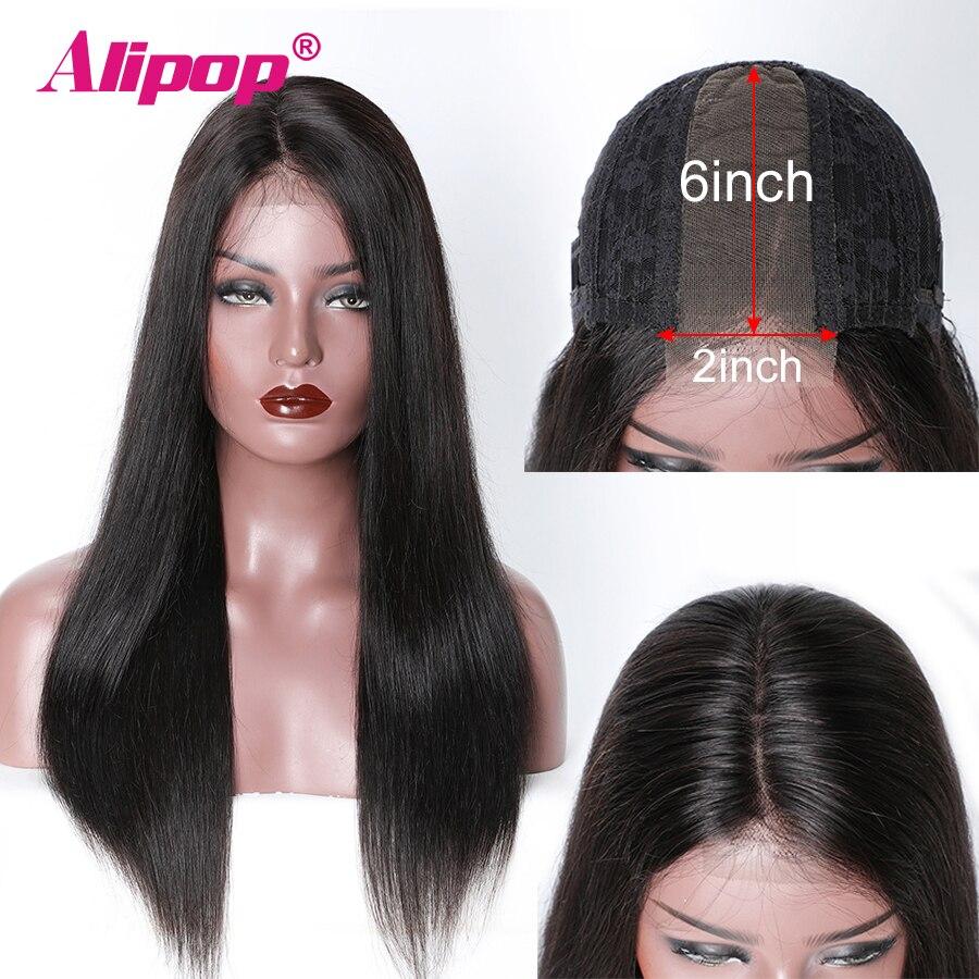 Brazylijski proste włosy ludzkie peruki Remy włosy 2x6 koronki przodu peruki dla kobiet głębokie część koronki przodu peruki z dziecięcymi włosami Alipop w Peruki z tiulem z przodu od Przedłużanie włosów i peruki na AliExpress - 11.11_Double 11Singles' Day 1