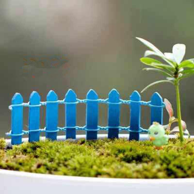 10cm*3cm Miniature Small Wood Fence DIY Dollhouse Fairy Garden Micro Plant Pot Decor Bonsai Terrarium Ornament