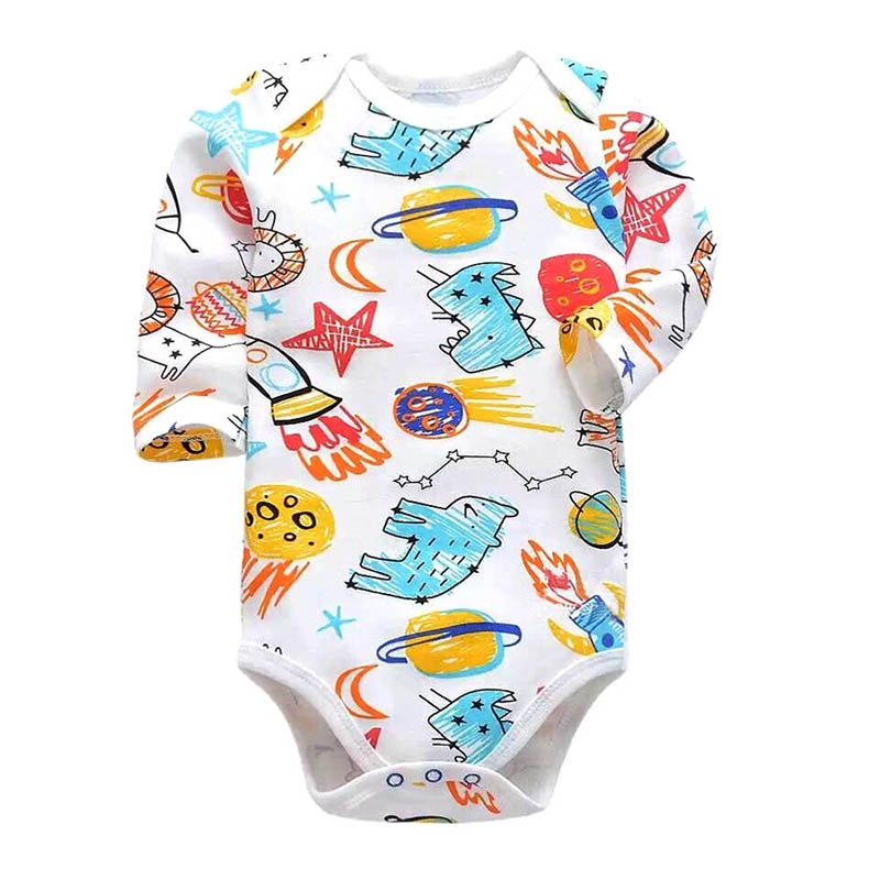 Newborn Bodysuit Baby Girl Boy Clothes 100 cotton Cartoon print Long sleeves Infant Clothing 1Pcs 0 24 months in Bodysuits from Mother Kids