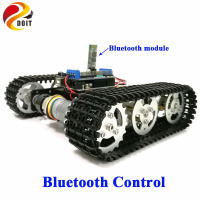 DOIT Bluetooth Control Metal Robot RC Tank Car Chassis Crawler Tracked Robot Competition with UNO R3 Board+Motor Drive Shield