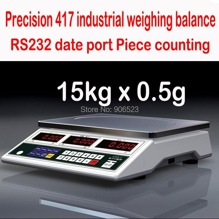 free shipping APTC417 Digital Tabletop Counting Scale Weighing Capacity 15KG x 0 5g electronic scale
