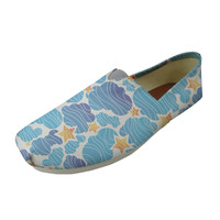 Blue Sea Animal Print Casual Women Flats Shoes Cute Dolphin Light Weight Women's Loafers Summer Canvas Comfort Shoes Woman