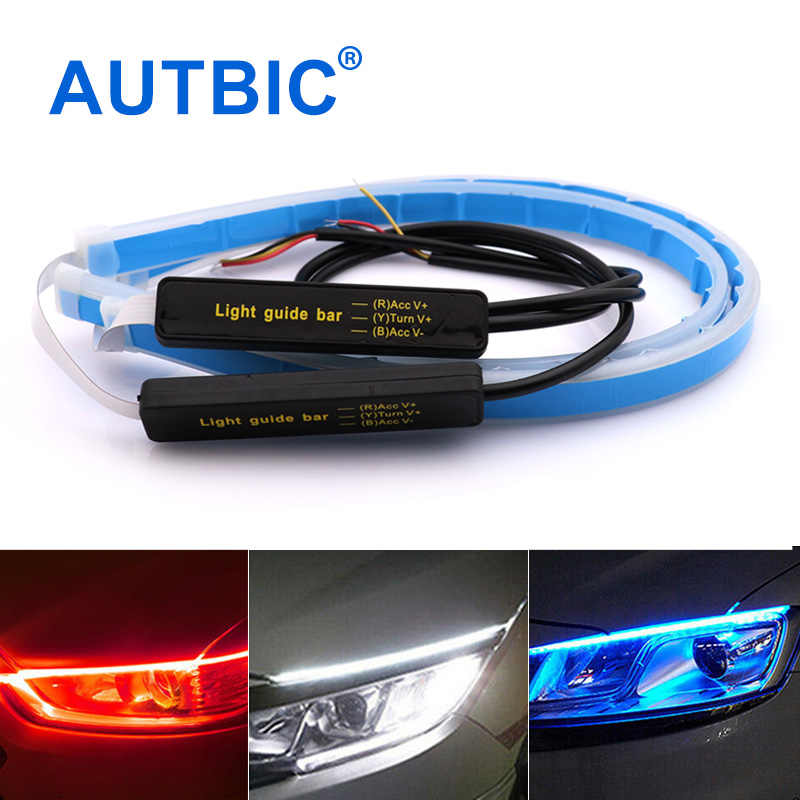 Car Styling Universal Flexible LED DRL Strip Turn Signal Light Auto Daytime Running Lights 12V LED DRL Angel Eyes