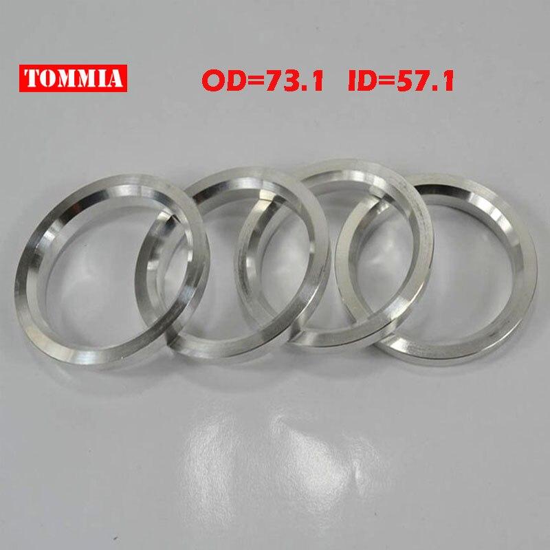 4pc Wheel Hub Centric Rings Spacer  Aluminium Alloy OD=72.5mm ID=69.5mm