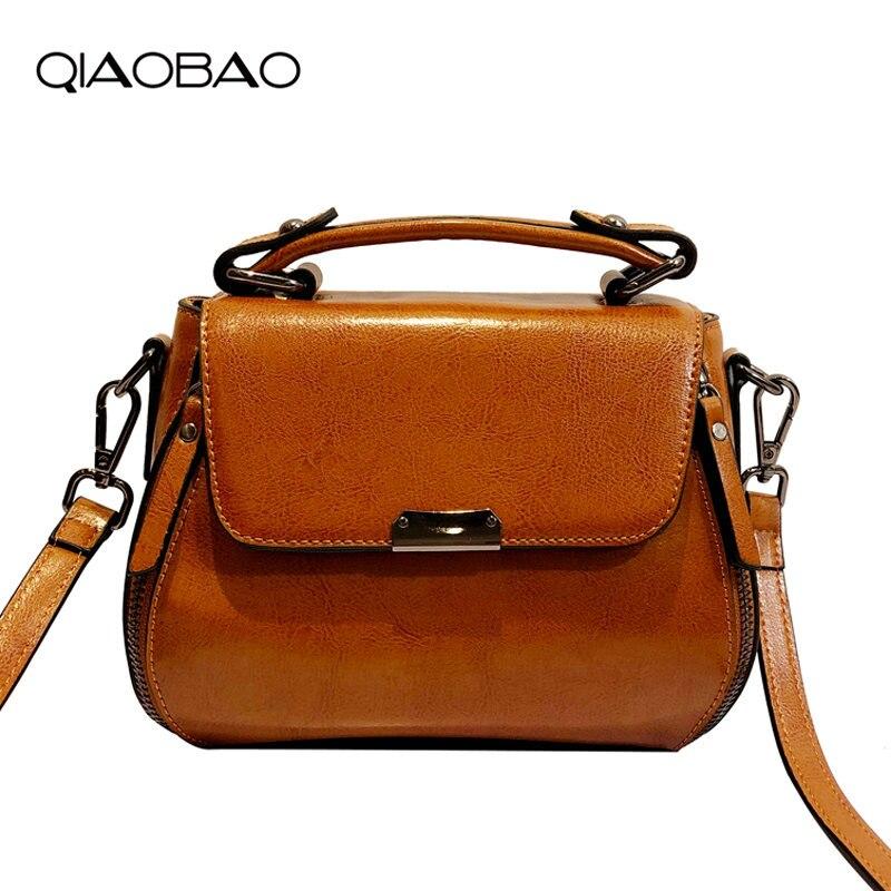QIAOBAO 2018 Fashion Brand Messenger Bags Women Flap Cowhide Leather Shoulder Bags Hasp High Quality Hot Sale Crossbody Bag qiaobao 2018 hot brand hot sale new fashion buckets women bags 100