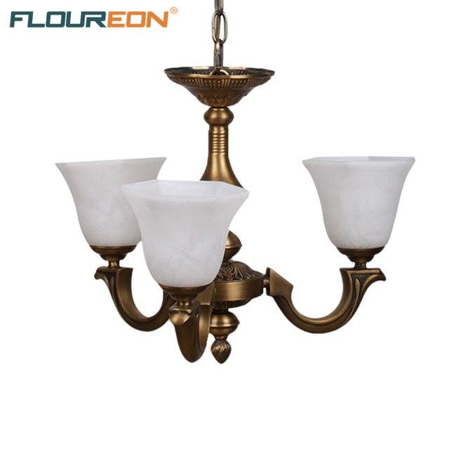 Floureon brass 3 lights chandelierretro european style light led floureon brass 3 lights chandelierretro european style light led lamp chandeliers aloadofball Images