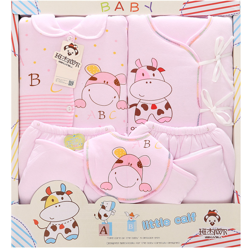 5 Pcs/lot Winter Thick Newborn Baby gift Sets Infant Clothing Unisex baby boy and girl Suits Baby Outfits For 0-6 Month Wear