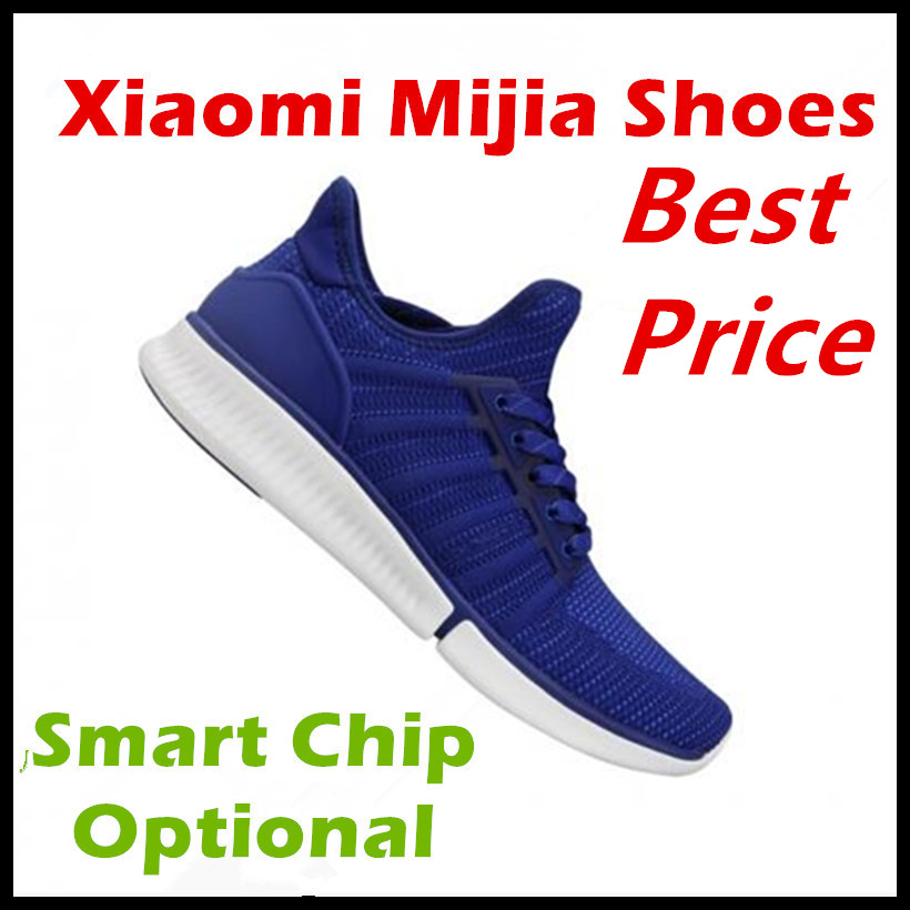 Original Xiaomi Mijia Smart Sports Sneaker Shoes High Quality Professional Fashion IP67 Waterproof APP Control No Smart Chip xiaomi smart shoes mijia running shoes