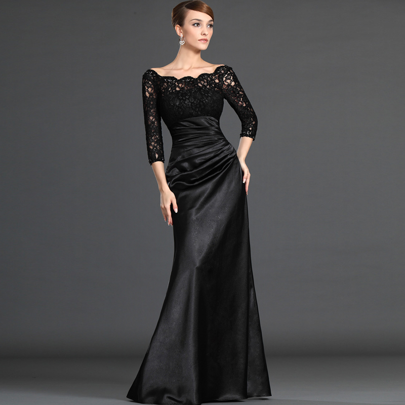 New Elegant Lace Stain Party Prom Dress Plus Size Mother Of The