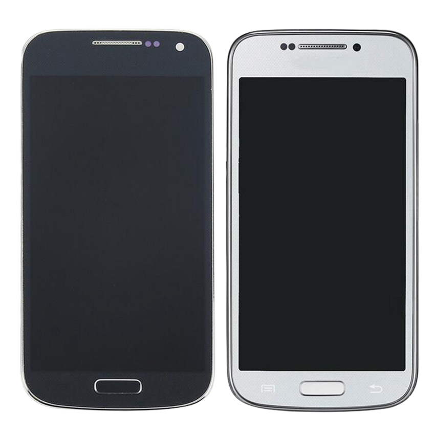 For <font><b>Samsung</b></font> <font><b>Galaxy</b></font> <font><b>S4</b></font> <font><b>mini</b></font> <font><b>i9190</b></font> i9195 i9192 <font><b>LCD</b></font> AMOLED <font><b>LCD</b></font> Display Touch <font><b>Screen</b></font> Digitizer Assembly with Frame +tools image