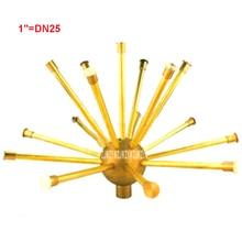 New Hot Brass 1″ DN25 Hemisphere Dandelion Brass Fountain Crystal Ball Nozzle Sprayer Head Spray Pond 60-80Kpa Water Spray 1.0m