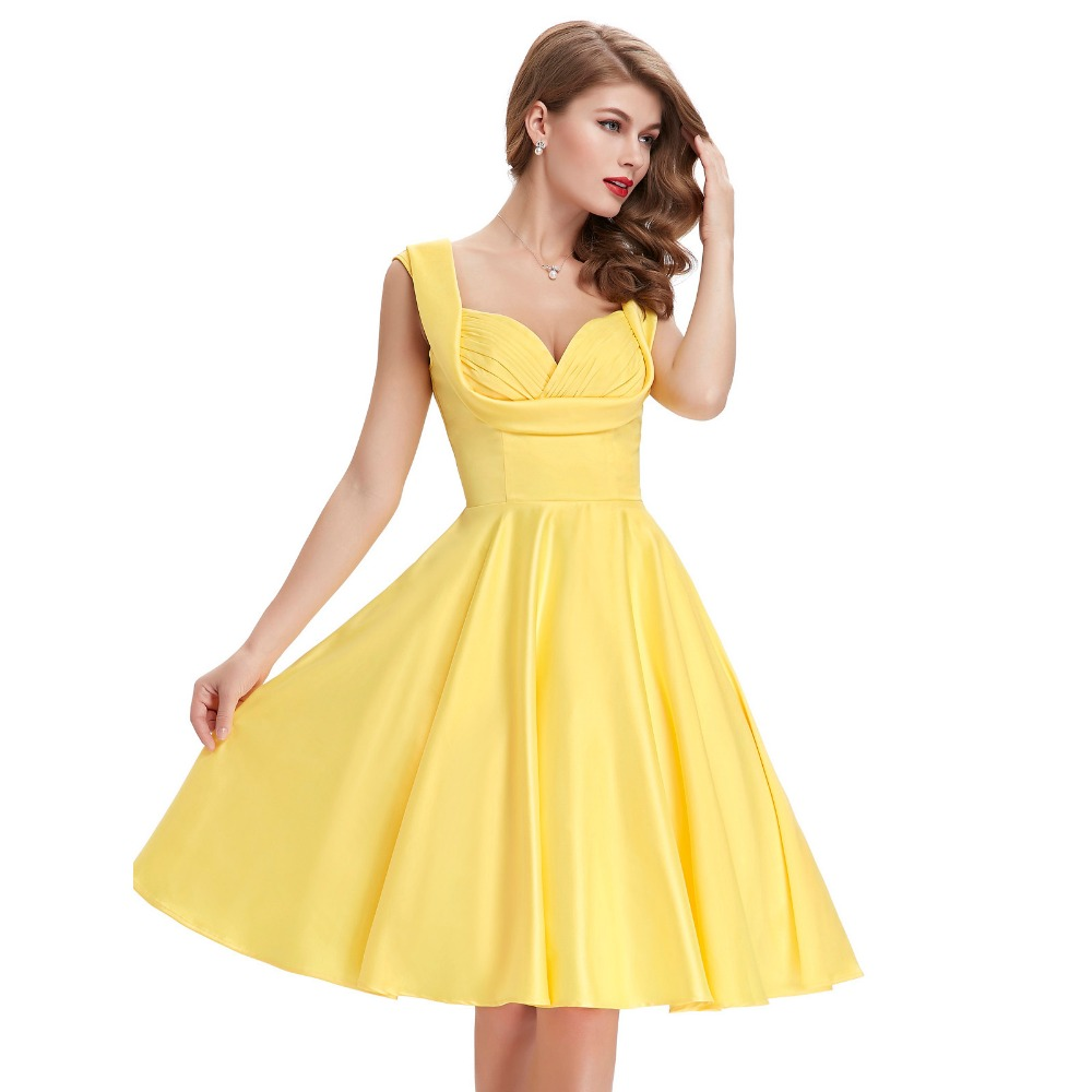 Vintage Yellow Dresses 54
