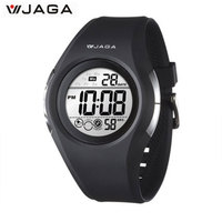 JAGA 2017 Sports Watches Movement Multifunction Electronic Watch 100 Meters Waterproof Watches Running Sports Watch M984