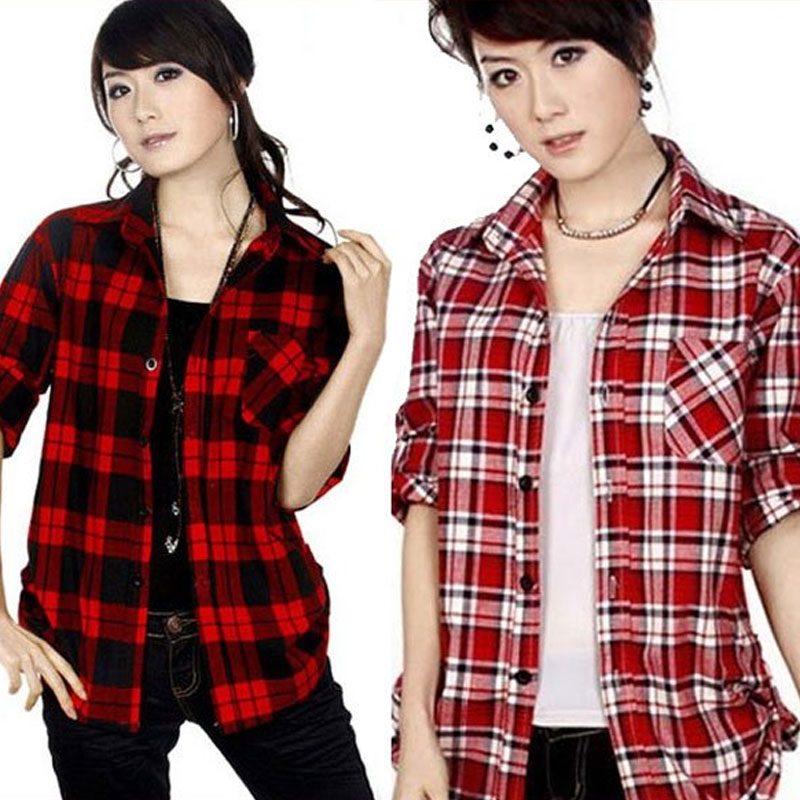 Red Checked Shirt Womens - Best Shirt 2017