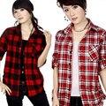 Xadrez 100% algodão camisa xadrez blusas ml XL XXL WTS057