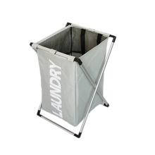 hot deal buy x frame laundry basket foldable thick oxford formwork one grid storage baskets bathroom rack lettering solid laundry baskets