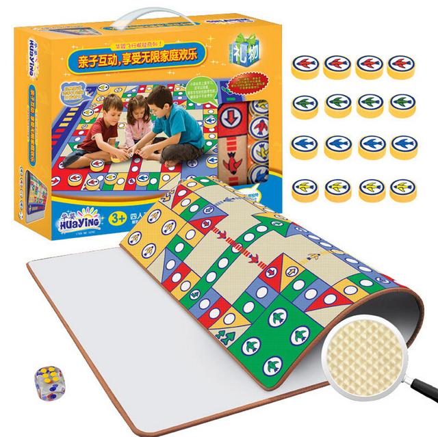 Tamanho grande Xadrez Vôo RPE Material ECO Amigável de Alta Qualidade Tapetes de Jogo Do Bebê Brinquedo Das Crianças Da Família Jogo de Presente de Natal